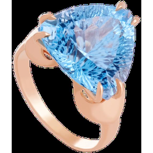Золотое кольцо с топазом 112-601