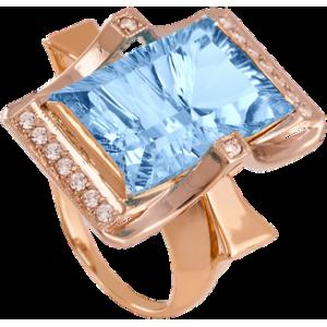 Золотое кольцо с топазом 112-606