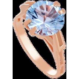 Золотое кольцо с топазом 112-662