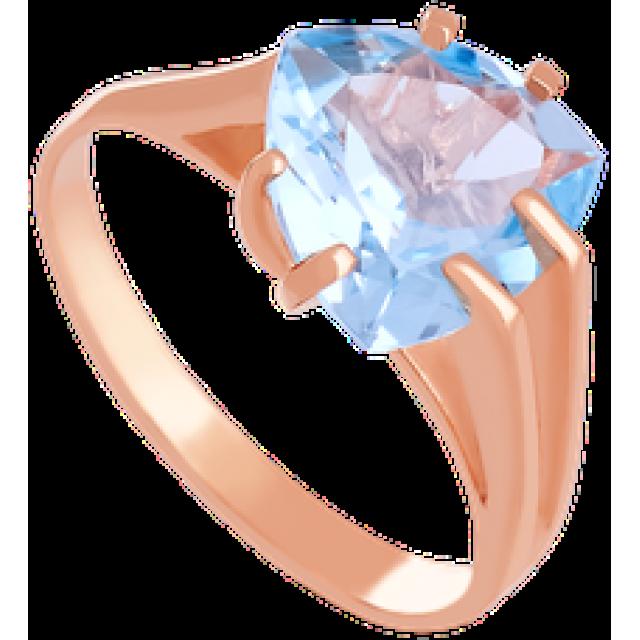 Золотое кольцо с топазом 112-680