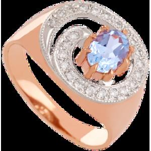 Золотое кольцо с топазом 112-704