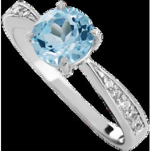 Золотое кольцо с топазом 112-778