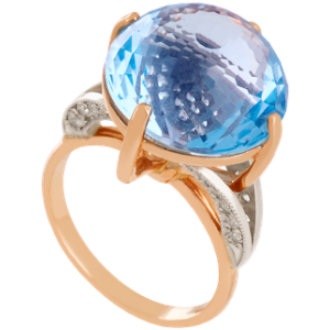 Золотое кольцо с топазом 112-795