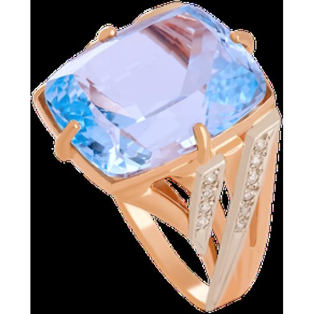 Золотое кольцо с топазом 112-811