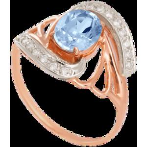Золотое кольцо с топазом 112-841