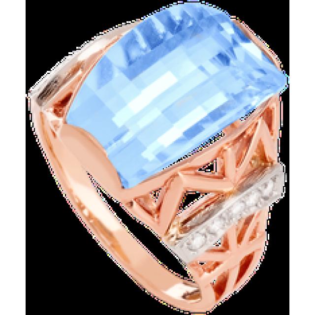 Золотое кольцо с топазом 112-866
