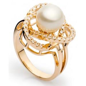 Золотое кольцо с жемчугом 11322101