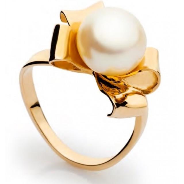 Золотое кольцо с жемчугом 11325801