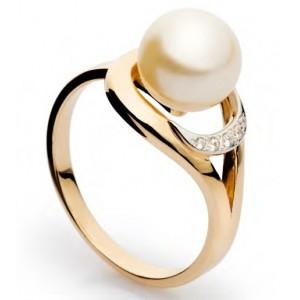 Золотое кольцо с жемчугом 113266010