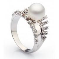 Золотое кольцо с жемчугом 11327401
