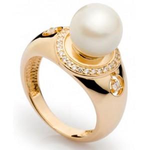 Золотое кольцо с жемчугом 11328001