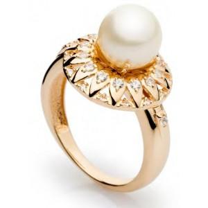 Золотое кольцо с жемчугом 11328101 фото