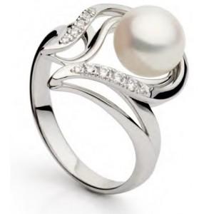 Золотое кольцо с жемчугом 11329001 фото