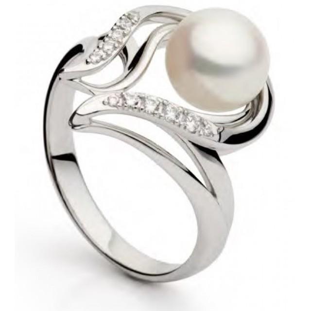 Золотое кольцо с жемчугом 11329001
