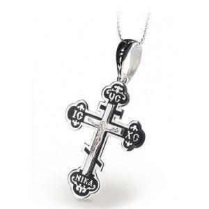 Серебряный крест с эмалью 115