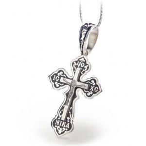Серебряный крест с эмалью 117