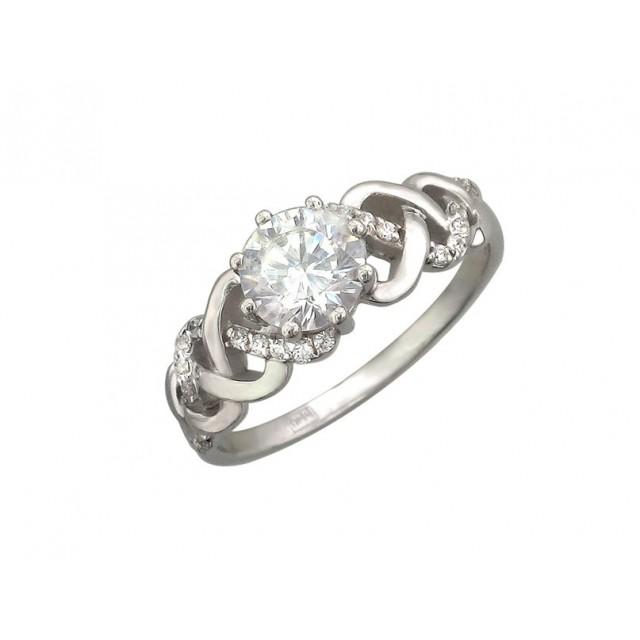 Золотое кольцо для помолвки 11952101 фото