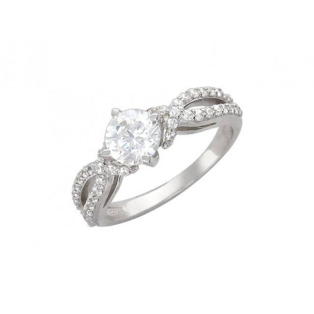 Золотое кольцо для помолвки 11952103 фото
