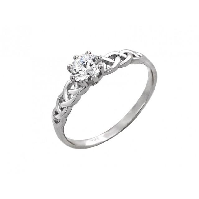Золотое кольцо для помолвки 11952106