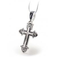 Серебряный крест с эмалью 120