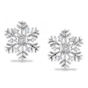 Золотые серьги снежинки 12193525
