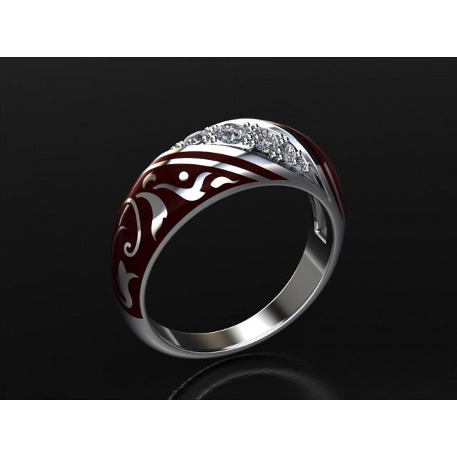 Золотое обручальное кольцо с эмалью 1400510
