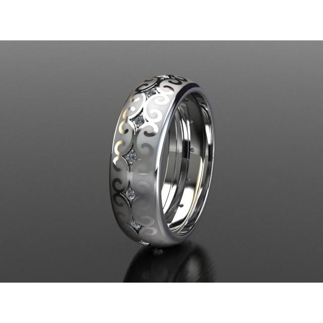 Золотое обручальное кольцо с эмалью 1401010 фото