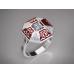 Золотое кольцо с эмалью 1401310 фото