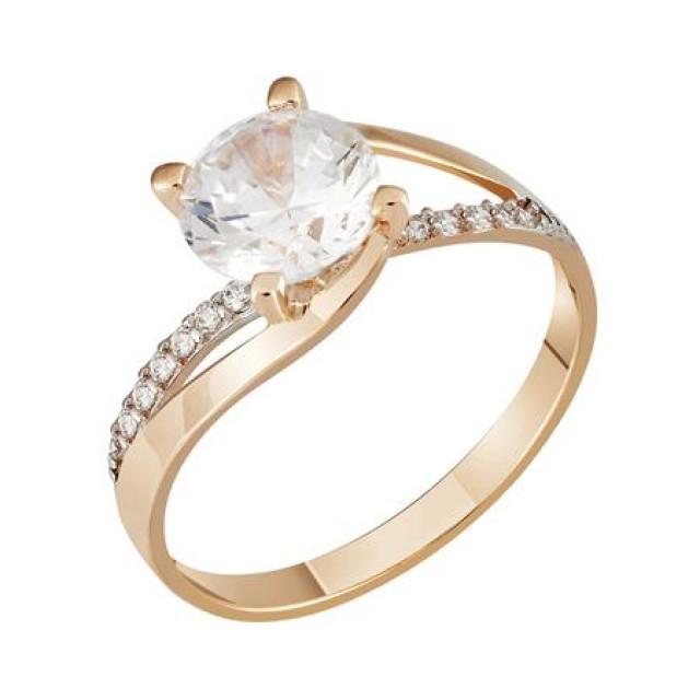 Золотое кольцо 1635871sv фото