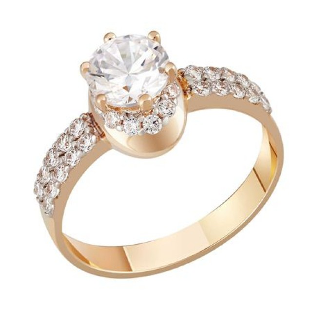 Золотое кольцо для помолвки 1695171sv