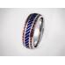 Золотое обручальное кольцо с эмалью 19005