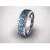 Золотое обручальное кольцо с эмалью 19014