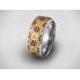 Золотое обручальное кольцо с эмалью 19028