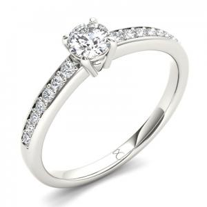 Золотое кольцо для помолвки 20-1 фото