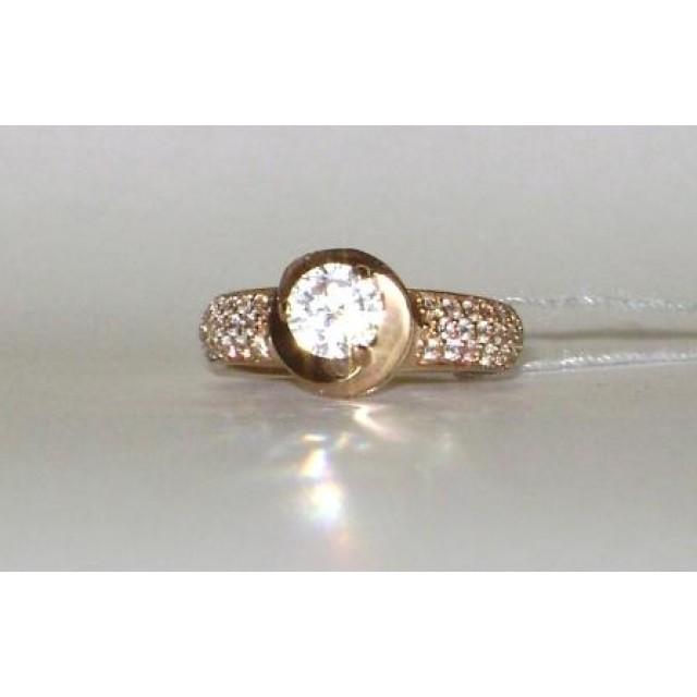 Золотое кольцо для помолвки 20020oro