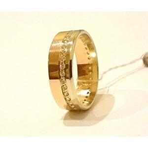 Золотое кольцо обручальное американка 204