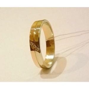 Золотое обручальное кольцо американка 215