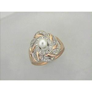 Золотое кольцо с жемчугом 3021662