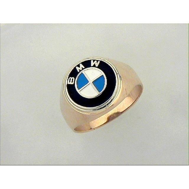 Золотая печать мужская BMW