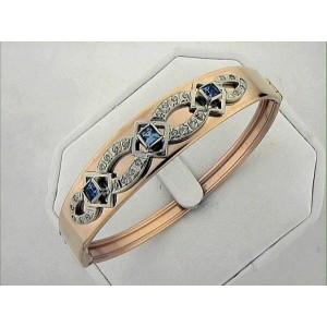 Золотой браслет обруч 3071617