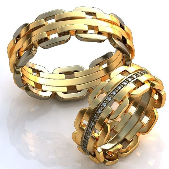 Золотое обручальное кольцо 415102