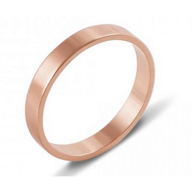 Золотое обручальное кольцо Американка 4110525