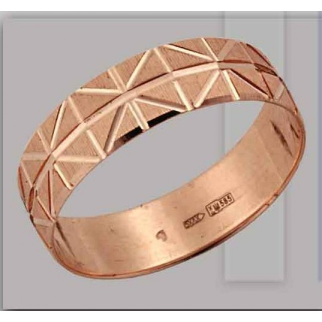 Золотое обручальное кольцо 411184 фото