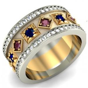 Золотое обручальное кольцо 412507