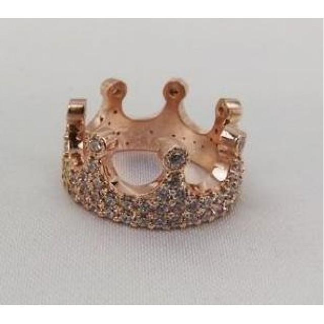 Золотое обручальное кольцо корона 412921