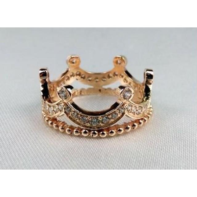 Золотое обручальное кольцо корона 412923
