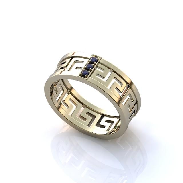 Золотое обручальное кольцо 412950-1