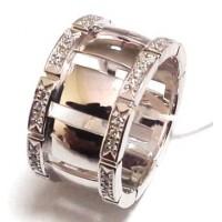 Золотое обручальное кольцо с цирконами 414150