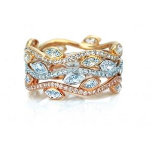 Золотое обручальное кольцо 415002