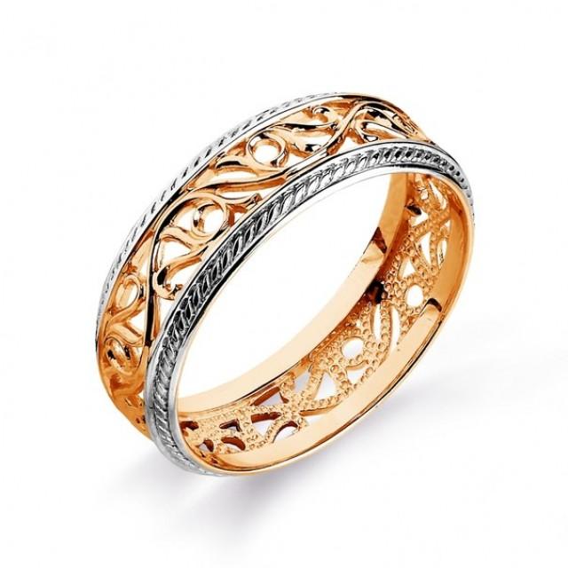 Золотое обручальное кольцо 415108